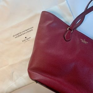 Kate Spade red leather tote